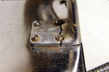 Broken drip tray support of a Velox
