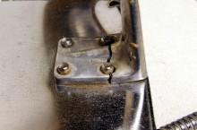 Broken drip tray support of a Velox
