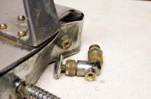 Broken fill-in tap of a Faema Velox