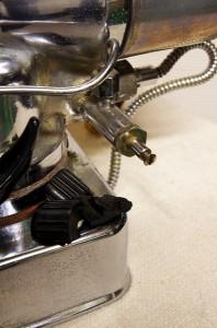 Broken steam tap on a velox