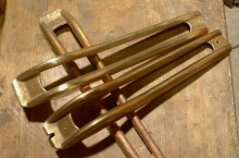 Decorative brass column for Faema Mercurio 1st generation